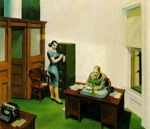 Office At Night by Edward Hopper.  Note: 1 PA. No PC.
